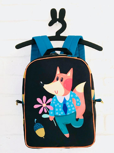 Panoramic panel for a backpack - a fox