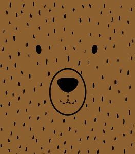 Panoramic panel for a backpack - caramel bear