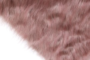 Artificial fur dirty pink