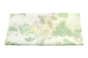 Linen fabric - lotus flower