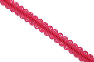 Tape zipper lace - fuchsia