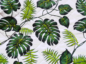Fabric for picnic mats - palm trees
