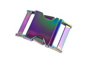 Metal buckle - rainbow - 30mm