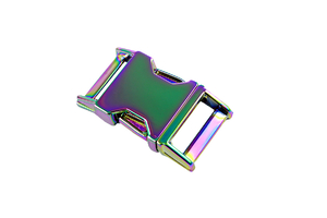 Metal buckle - rainbow - 20 mm