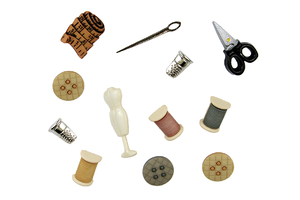 Decorative buttons - sewing kit