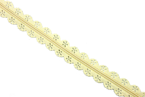 Tape zipper lace - beige