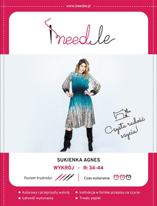 Pattern iNEEDle - dress Agnes - size 34-44