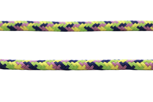 Cotton rope 12 mm - MULTI - lime and navy blue