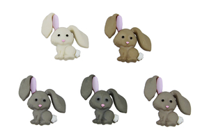 Decorative buttons - rabbits