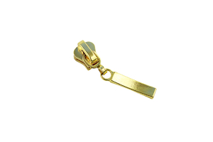 Slider for zipper straps - gold