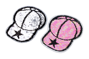 Double-sided sequin patch - baseball