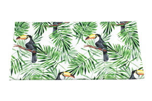 Velvet printed - Toucans in the leaves