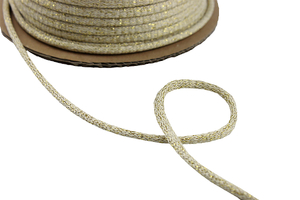 Cotton cord - beige gold, 8mm