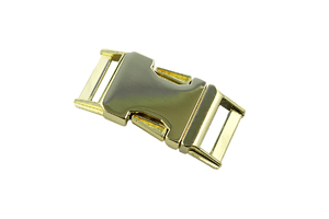 Metal buckle - golden - 20 mm