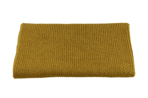 Knitted panel - blanket - mustard