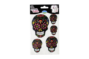Iron-on transfer - Mexican skulls