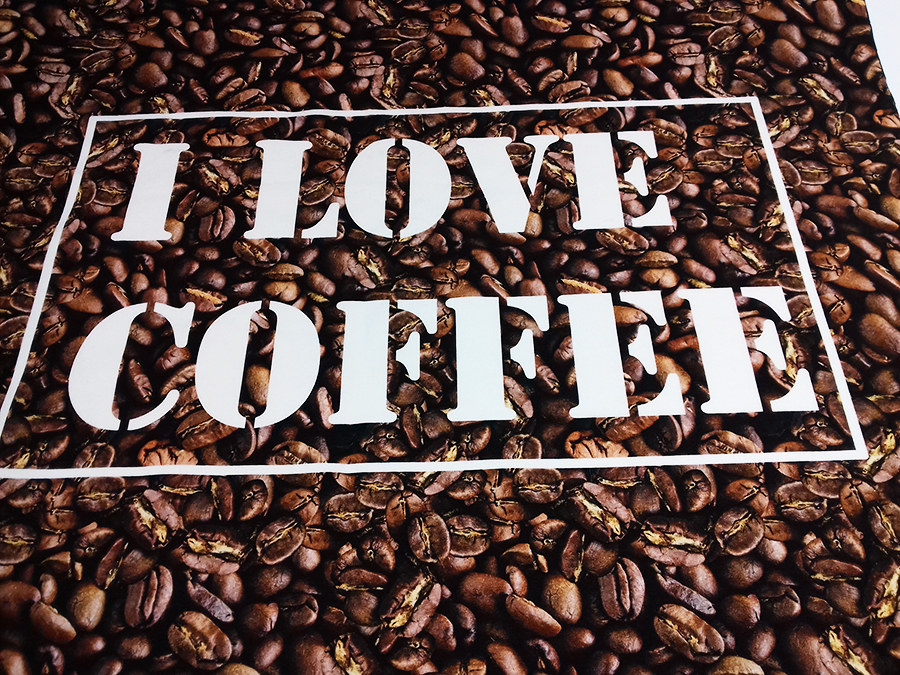 Kaffee - Panel - Digitaldruck - Sweatstoff   MetryiCentymetry